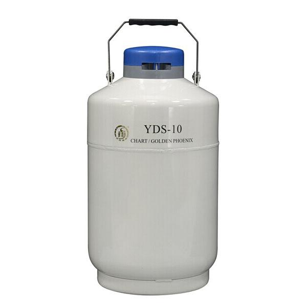 金凤YDS-10 容积10L 口径50mm 贮存式液氮罐 含六个120mm高的提筒和保护套
