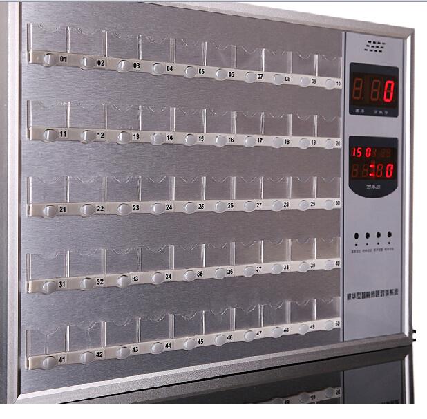 悦麒100路全金属主机可接闪灯医用对讲主机